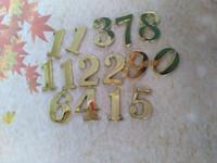 números de reloj de cuarzo al por mayor-Nuevo Diseño Mejores 20pcs 2 .5cm la buena calidad de los números arábigos de oro para el cuarzo del reloj Accesorios