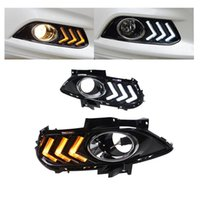 Wholesale Daytime Running Lights Led Mondeo - Day Light For Ford Mondeo 2013 2014 2015 LED DRL Daytime Running Light with Yellow Turn Light Function With Fog Lamp Hole