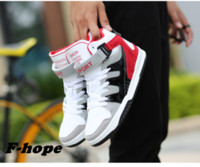sports shoes deals - Fashion skateboarding shoes for men flat spell color breathable high top sneakers comfortable sport shoes spuer deal
