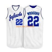 Wholesale Ku Jayhawks - Cheap custom #22 Andrew Wiggins Kansas Jayhawks KU Throwback College Basketball Jersey white Embroidery any Number and name Jerseys