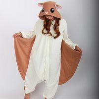 Wholesale Kigurumi Squirrel - HappyBuy Kigurumi Women and Men's Flying Squirrel Animal Kigurumi Adult Onesies Pajamas Costume Cozy Pajama Party Wear