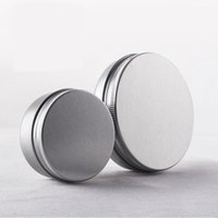 Wholesale Wholsale Beads - 20pcs lot Aluminum Empty Cosmetic Jars 100g Lotion Mask Refillable Bottles Cream Jars Containers Tins For Beads wholsale EJ17