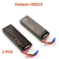 Wholesale hubsan helicopter - Original Hubsan H501S H501C Battery 7.4V 2700mAh Battery Hubsan Spare Parts Free shipping