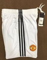 Wholesale United Shipping - 2017 2018 Man United best Thai Quality home away 17 18 Ibrahimovic MEMPHIS ROONEY POGBA Soccer shorts Free shipping