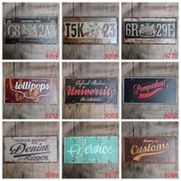 Wholesale Custom Metal Signs - Antique License plates retro metal tin signs service customs university wall decoration plaque vintage iron painting art pub bar craft gift