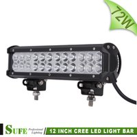 Wholesale 12 Inch Military - SUFE 12 INCH 72W LED LIGHT BAR COMBO OFF ROAD FOR TRACTOR TRUCK BOAT MILITARY EQUIPMENT WORK BAR LIGHT CAR Fog Lamp 12V 24V