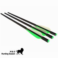 Wholesale Carbon Fiber Arrows Wholesale - High Quality Hunting 16 18 20 Inch Arrow OD 8.8mm Carbon Crossbow Bolts 4Inch Vanes Halfmoon Nock 125GR Broadheads 6 12Pack
