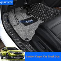 alfombrillas de auto 3d al por mayor-Alfombra de piso de coche 3D Car-Styling de cuero Toda la bandeja de cuero Carpet Car Liner Custom Fit Maleta de tronco de coche para Honda CRV CR-V 2017 Alfombra