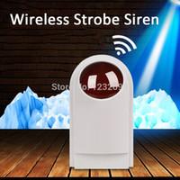 Wholesale Outdoor Siren Gsm - Wireless Outdoor alarm Strobe Siren with flash and big Sound for PSTN GSM Wireless alarm panel
