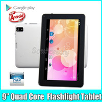 Wholesale 30pcs Allwinner A33 Quad Core GHz inch Dual Cameras Android Tablet PC MB RAM GB ROM Bluetooth Wifi Flash