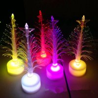 Wholesale fiber optic lighting trees for sale - Group buy Mixed colors Christmas Decorations LED Fiber optic tree Beauty Flashing Christmas Tree LED flash bar party celebration props gifts JF