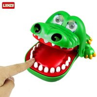 Vente en gros - Jouets pour bébé Grand Crocodile Jokes Bouche Dentiste Bite Finger Jeu Joke Fun Funny Crocodile Toy Antistress Cadeau Kids Family Prank