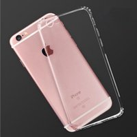 Wholesale Start Phone - 10 Pieces Start Sale New Cell Phones Non-slip Soft Silica Gel Transparent Cases for iPhone 6 6s 7 Plus