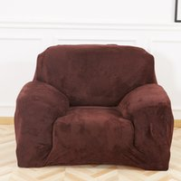 mesas sillas para bodas al por mayor-Cubierta de sofá de felpa de invierno cubierta de sofá cubierta deslizante sólida engrosamiento suave individual / dos / tres / cubierta de sofá elástico escénica de cuatro plazas