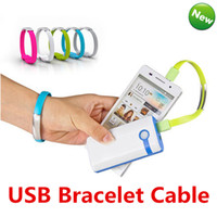 Wholesale Colorful Micro Usb - Magnetic Suction Creative Wristband Bracelet Charger Cable Micro USB Data Sync Cord High Speed 22CM Colorful for Samsung S7 HTC Blackberry