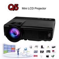 2016 LCD LED Mini projetor portátil 800 Lumens Full HD USB TF AV HDMI VGA LED para Cinema em Casa Cinema Entretenimento Q5 Projetor Beamer