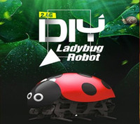 Wholesale Rc Beetle - Remote control 2.4G DIY ladybug Robot RC beetle toy F10 cash finished version (has been assembled)
