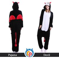 Wholesale China Male Costume - Helloween hot sale costume helloween devil design cartoon onesie pajamas for adult from China