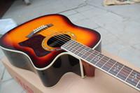 Wholesale Oem Acoustic Guitars - OEM Factory custom Free Shipping Top Quality tayl natural wooden 310 ce acoustic guitar sunburst acoustic guitar with fishmen 301eq