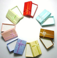 Wholesale Bowknot Case - Size 8*5*2.5cm Jewelry Jewellry Sets Necklace Earrings Rings Bracelets Gifts Packing Package Packaging Display Showing Box Case with Bowknot