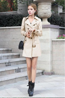Wholesale Trench Style Dresses - Fashion NEW trench coat clothes Western Style Autumn winter dress coat big yards trench coat gifts ems free