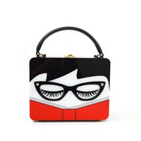 Wholesale Handbag Glasses - Fashion Ladies Handbag 2017 New Small Square Bag Europe and The United States Fashion Acrylic Handbags Glasses Woman Box Bag Messenger Bag