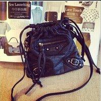 Wholesale Pewter Ribbon - Mini pack a small bag of 2016 single shoulder bag water-washed leather oblique female bag locomotive mini bucket bag bag, mobile phone bag