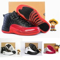 Wholesale Free Multi Games - High Quality retro 12s Basketball Shoes Wholesale Men Women Flu Game French Blue 12 XII sport Shoes sneakers trainers free shipping