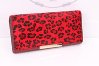 Wholesale Women S Fashion Purses - allets Holders Wallets New brand Super sexy fashion leopard horse hair Genuine leather hasp Party women lady wallets purse handbag free s...