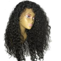 Wholesale Glueless Lacefront Wigs - Malaysian Curly Wigs 7A Grade Malaysian Virgin Human Hair Glueless Kinky Curly Lace Front Wig Lacefront Wig For Black Women