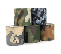 Wholesale Camouflage Adhesive Tape - 1Rolls Mixed 5M*4.5CM Adhesive Duct Tape Camouflage Waterproof Hunting Camping Stealth Tape Wraps