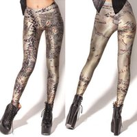 Le donne di moda Foresta vergine Galaxy Leggings cachi Diving pantaloni stampati Sky Spazio elastico Breathe Natale caldi Jeggings Slim Tights