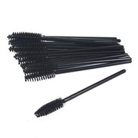 Wholesale Disposable Make Up Brushes - Hot Selling 100 pcs One-Off Disposable Eyelash Mini Brush Mascara Applicator Wand makeup Brushes eyes care make up styling tools