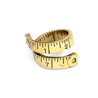 Wholesale Measure Rings - Twisted Ruler Measure Ring Gold Silver Color Free size Adjustable ring Antique Alliance Homme Party Jewelry Wholesale