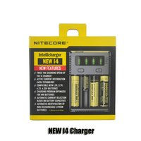Wholesale Universal Battery Charger I4 - Authentic Nitecore NEW I4 Intellicharger Universal 1500mAh Max Output e cig Chargers for 18650 18350 26650 10440 14500 Battery