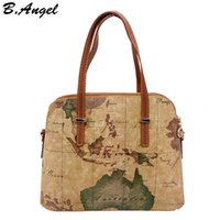Wholesale World Map High Quality - New fashion high quality world map women bag women messenger bags shoulder bags tote bag