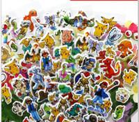Wholesale Children Christmas Sticker - Poke mon Sticker Pikachu 3D Wall Stickers Poke go halder children kids toys gifts Wallpaper paster Kindergarten Reward Xmas Gifts