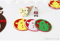 Wholesale Glass West - New Christmas decorations west glass table mat Coffee cup mat disc pad insulation pad Christmas gifts