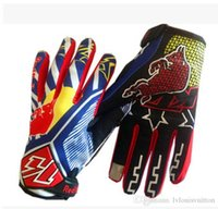 Wholesale Ktm Gloves - Earthquak KTM Off Road Motocroos Glove MX BMX Bicycle Cycling Gloves All-Share Index Motorcycle Racing Gloves finger anti-Slip