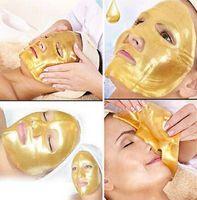 biyolojik nemlendirici kollajen maske toptan satış-2016 SıCAK Altın Bio-Kolajen Yüz Maskesi Yüz Maskesi Kristal Altın Tozu Nemlendirici Anti-aging Kollajen Yüz Maskeleri Peels Ücretsiz DHL FedEx