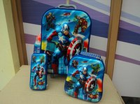 Wholesale Eva Luggage - Wholesale-New League of Legends 6D travel suitcase sets (lunch box + pen boxes+trolley luggage ) 16 inch EVA wheel bag trolley