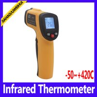 Wholesale Lcd Display Digital Auto Thermometer - Digital GM300 Laser LCD Display Non-Contact IR Infrared Thermometer Auto Temperature Meter Sensor Gun Point