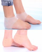 4 stili Air Support Heel Shock Gel Silicone Protective Sock Absorbing Manica Moisturizing Respirabile Air Support Heel Shock E880L