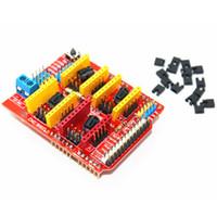 принтер arduino оптовых-CNC Shield V3 плата расширения A4988 шаговый двигатель драйвер 3D-принтер для Arduino B00176 бард