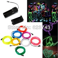10PCS Citron / Rouge / Jaune / Vert brillant / Blanc / Bleu / Violet / Rose 3M Flexible Neon Light EL Wire Rope Tube Controller Free Ship