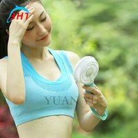 Wholesale Desk Cool - Cooler fan portable fan mini air conditioner cool usb fan mini fan with led flashlight for desk computer outdoor indoor air fan