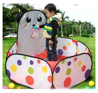 Wholesale Ball Tent Sale - 2016 Hot Sale Kids Safe Polka Dot Hexagon Playpen Indoor Ball Pool Play Tent Safety Mesh Baby Playpen Baby Play