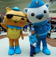 Wholesale Adult Bear Costume Blue - Hot Sale lively Octonauts Movie Captain Barnacles & kwazii Polar Bear Police Mascot Costumes Adult Size Free Shipping