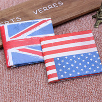 Wholesale wallet flag for sale - Group buy New Arrivals Trendy National Flag Pattern Short PU Leather Wallets Credit Card Holder Coin Purse