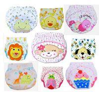 Wholesale Christmas Aio Cloth Diaper - Wholesale-30pcs\lot 2016 Cartoon Baby Waterproof Diaper Pant Potty Training Pants Toddler Panties Newborn Underwear Reusable Free Shipping